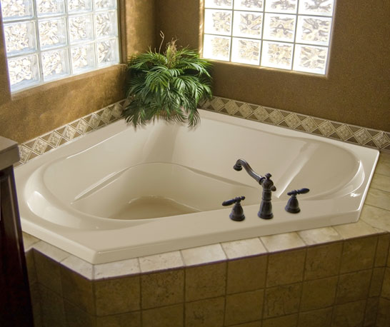 Hydro Systems Clarissa Jetted Corner Whirlpool Tub Jetted Tub